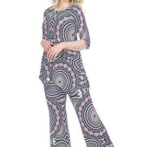Print 2-Piece Top and Pants Set SET-033